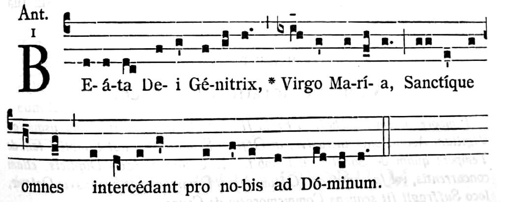 Antienne Beata Dei Genitrix