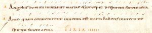 Antiennes Angelus et Antequam