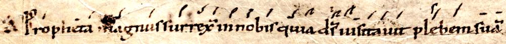 Antienne Propheta magnus
